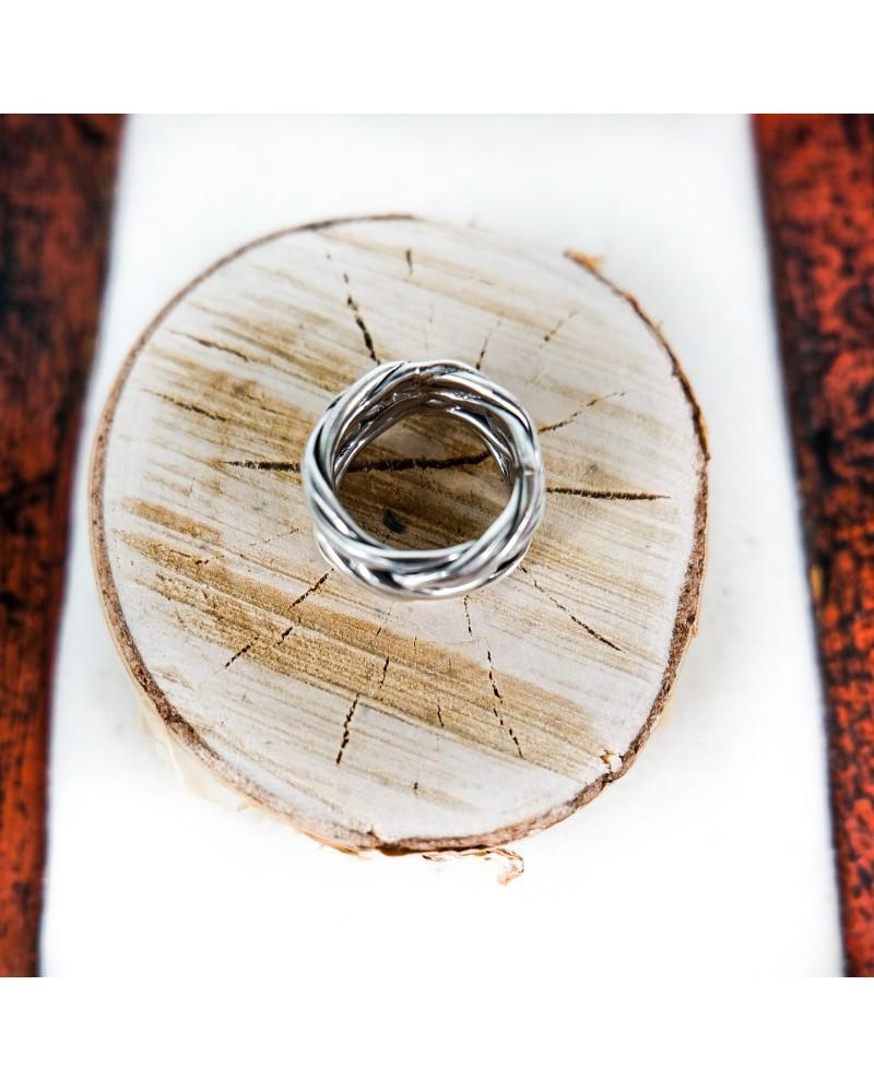 Inel Argint  Bird Nest