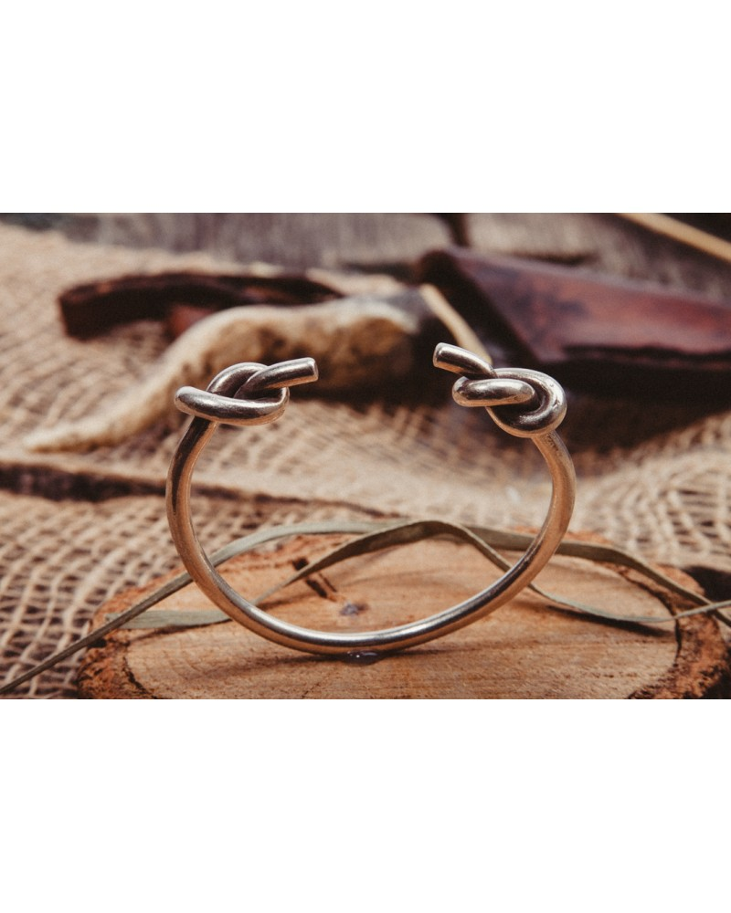 Bratara Argint Two Knots