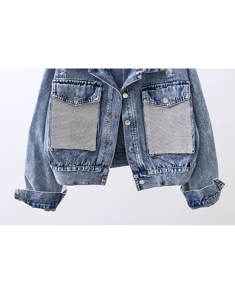 Geaca Denim Diamond Pockets