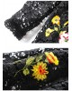 Rochie  Flowers and Black