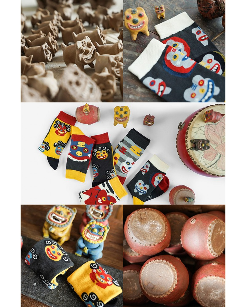 Sosete  Colorate The Art Of Clay