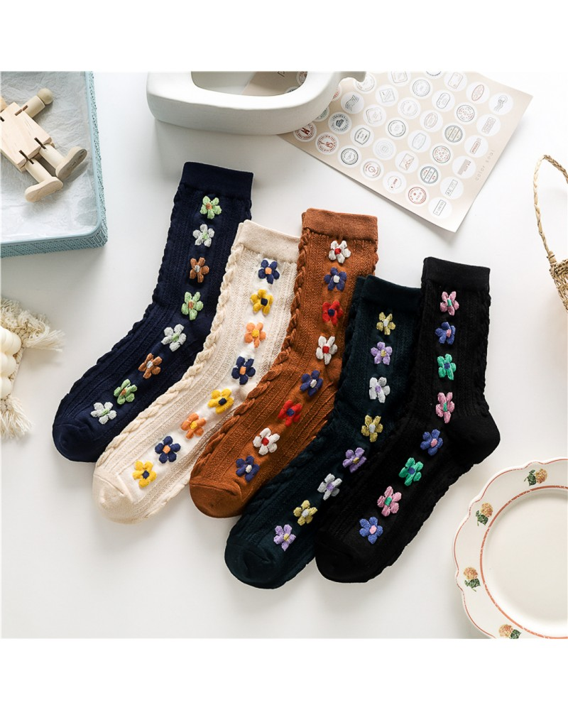 Sosete  Cotton Flowers